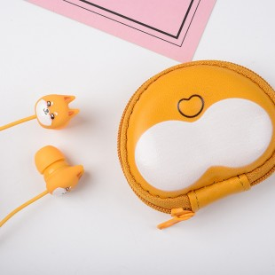 هندزفری سیمی طرح روباه cute fox design wired earphones with microphone E213