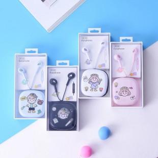 هندزفری فانتزی طرح دختر کوچولو little girl cartoon earphones XY-32