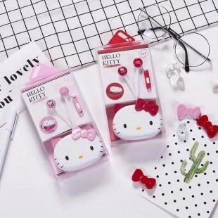 هندزفری فانتزی طرح هلو کیتی cute hello kitty earphone L-17