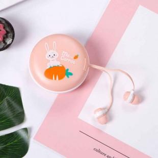 هندزفری فانتزی طرح کارتونی خرگوش cute rabbit cartoon design earphones