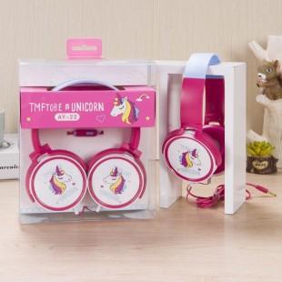 هدفون سیمی فانتزی طرح اسب تک شاخ cute unicorn-shaped mired earphones with microphone