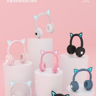 هدفون بی سیم فانتزی طرح گربه Cat ear style 2020 bluetooth wireless headphone