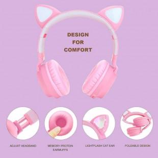 هدفون فانتزی طرح گوش گربه ET cat ear wireless bluetooth headphone