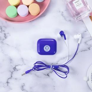 هندزفری فانتزی طرح ماربل کیکا Keeka chica marble series storage box wired earphone