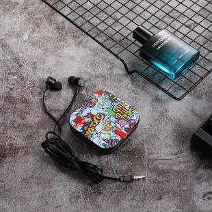 هندزفری فانتزی طرح گرافیتی لاولی می Lovely me Q59 graffiti earphones