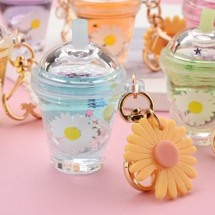 جاسوئیچی طرح گل آفتاب Daisy flower keychain code 73-1