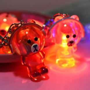 جاسوئیچی طرح خرس کریستالی با هدفون کد 73-17