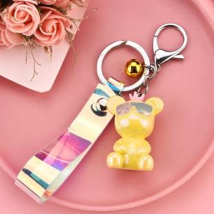 جاسوئیچی طرح خرس عینک دار Glasses doll bear keychain code 73-3