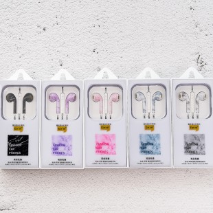 هندزفری طرح آیفون ماربل ایرسیر Earsir marble design earphones