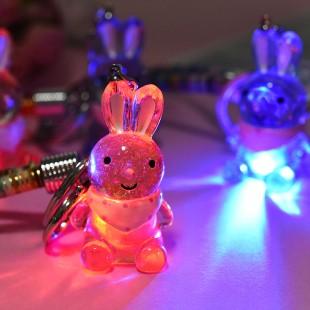 جاسوئیچی خرگوشی کریستالی چراغ دار کد 73-18