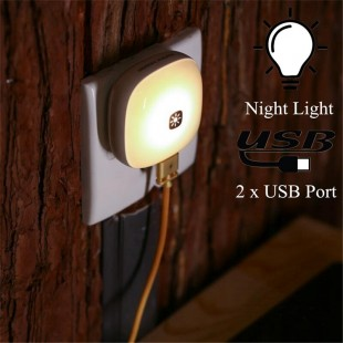 چراغ خواب همراه با آداپتور ریمکس Remax elve night light RT-E515 with CN adaptor