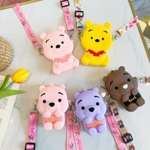 کیف دوشی فانتزی طرح پو Colorful Pooh coin purse