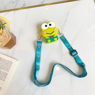 کیف دوشی فانتزی طرح قورباغه و گربه سانریو Sanrio frog and cat character coin purse