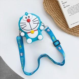 کیف دوشی فانتزی طرح گربه دائمون Cute Daraemon cat design coin purse