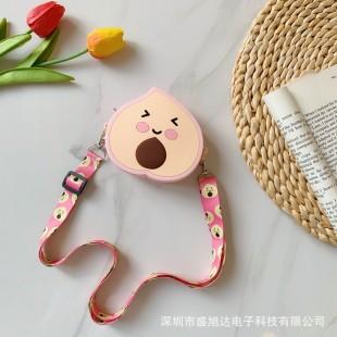 کیف دوشی فانتزی طرح آووکادو صورتی Pink Avocado coin purse