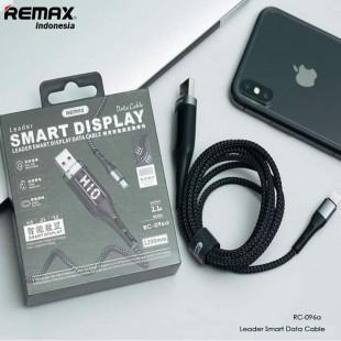 کابل شارژ تایپ سی با صفحه نمایشگر ریمکس Remax leader smart display RC-096a