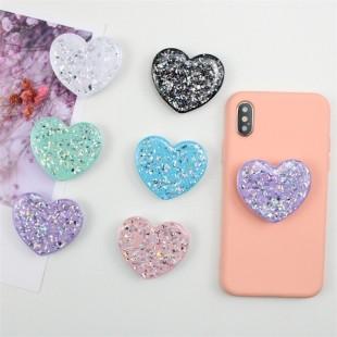 پاپ سوکت طرح قلب اکیلی Heart shape glossy pop socket