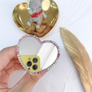 پاپ سوکت طرح قلب آیینهای Diamond Love mirror pop socket