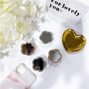 پاپ سوکت آیینهای طرح گل Diamond flower mirror pop socket