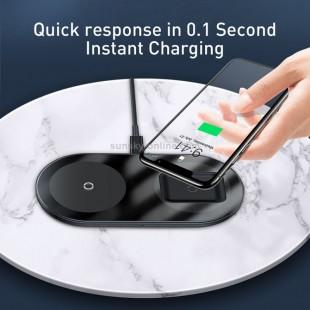 شارژ وایرلس ایرپاد و گوشی بیسوس baseus WXJK-C01 simple 2in1 wireless charger pro edition for phones+pod