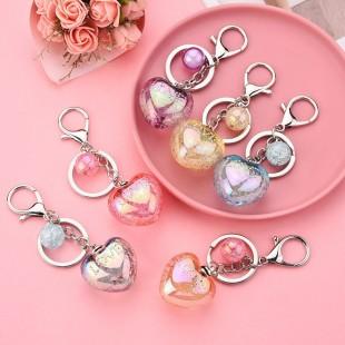 جاسوئیچی قلب کریستالی Acrylic love keychain 73-10