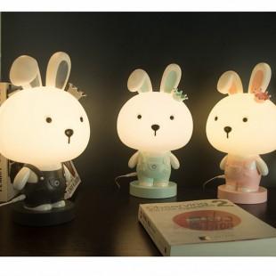 چراغ خواب سیلیکونی طرح خرگوش Crown rabbit silicone light night