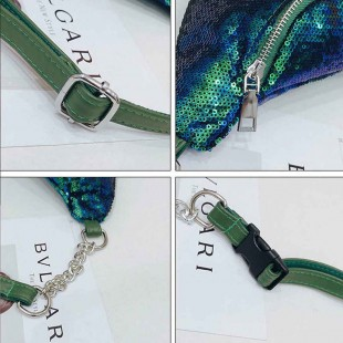 کیف کمری پولکی Fashion girls sequins glitter waist bag
