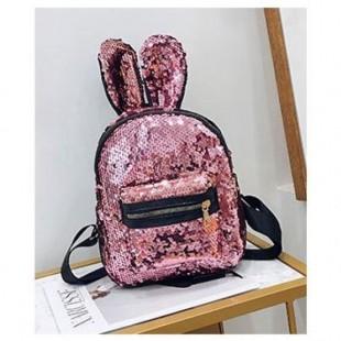 کوله پشتی خرگوشی پولکی Rabbit ear sequins bag pack