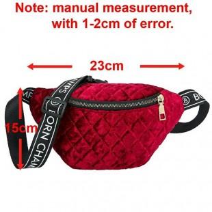 کیف کمری مخملی Velvet women's crossbody purse
