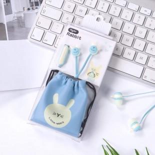 هندزفری فانتزی طرح خرگوش Aiyale A-96 cute rabbit earphone