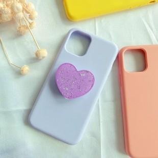 پاپ سوکت اکلیلی طرح قلب Glossy heart design pop socket