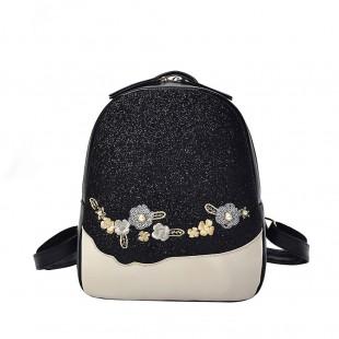 کوله پشتی دخترانه شاینی گلدار Women Flower Sequin Bag Shoulder