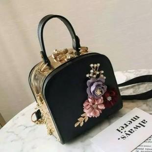 کیف دوشی گلدار Flower box women's purse