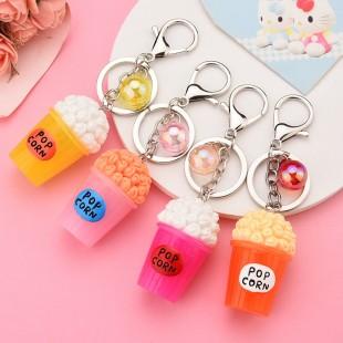 جاسوئیچی طرح پاپ کورن Cute popcorn keychain