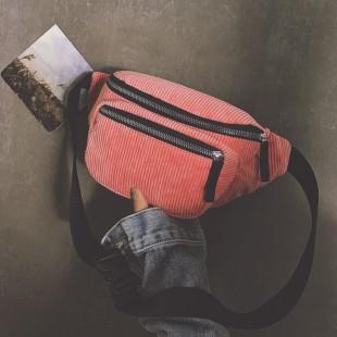 کیف کمری مخمل کبریتی Velvet women's waist bag