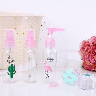 بطری اسپری آب فلامینگو و کاکتوس Flamingo and Cactus water spray