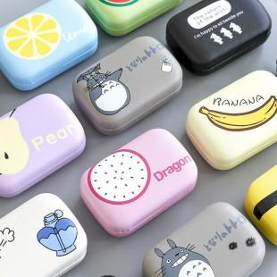 جا لنزی فانتزی Totoro cute cartoon soft lens box