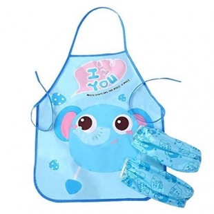 پیشبند و دستکش مخصوص کودکان Water proof apron set for kids