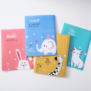 پوشه کاغذ A4 با طرحهای کارتونی Cartoon animals A4 transparent folder