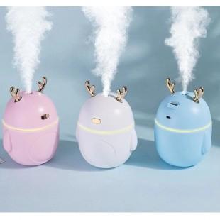 دستگاه بخور طرح گوزن Christmas deer USB air humidifier aromatherapy essential oil car LED night light