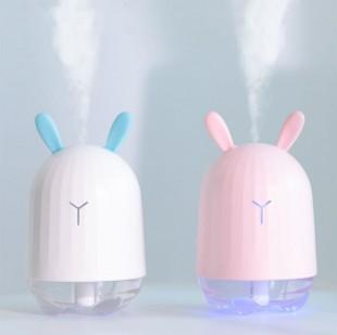 دستگاه بخور طرح خرگوش Mini cute rabbit USB and essential oil air humidifier with LED lamp