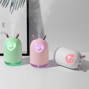 دستگاه بخور با طرح خرگوش قلبی Lovely rabbit with romantic color LED lamp air humidifier