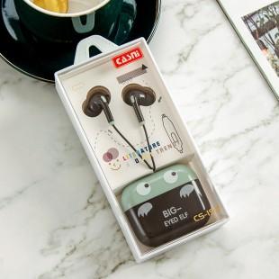 هندزفری فانتزی طرح پری Casni SC-193 big eyed elf wired earphones with storage bag