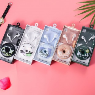 هندزفری طرح دونات کیکا Keeka KA-187 donut design wired earphone with storage bag