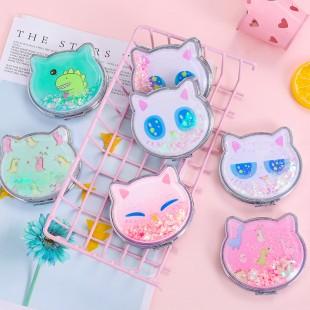 آینه جیبی با طرح حیوانات Cute animals logo hand mirror