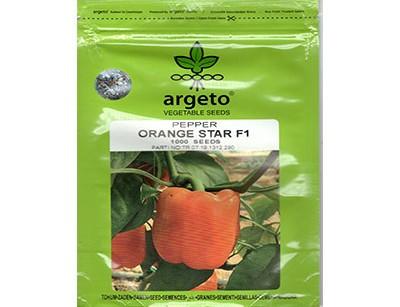 بذر فلفل دلمه هیبرید نارنجی آرگتو