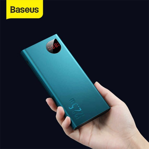 پاوربانک 20000 میلی آمپر بیسوس مدل Baseus Adaman Metal Digital Display Quick Charge Power Bank 22.5W 20000mAh PPIMDA-A06