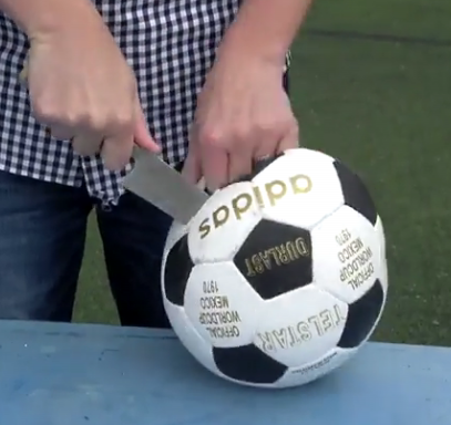 ویدئو :  داخل توپ فوتبال جام جهانی 2018 روسیه چه خبر است؟