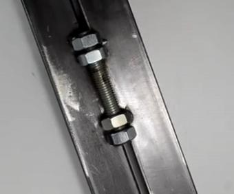 ویدئو :  ساخت لولا با پیچ و مهره