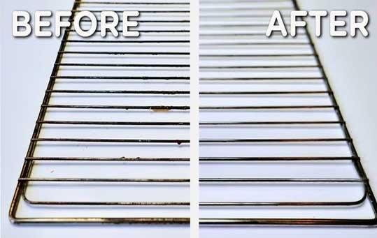 تمیز کردن توری فر بدون مواد شیمیایی